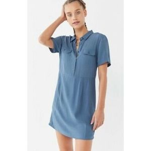 Urban Outfitters Button Front Shirt Sleeves Dress